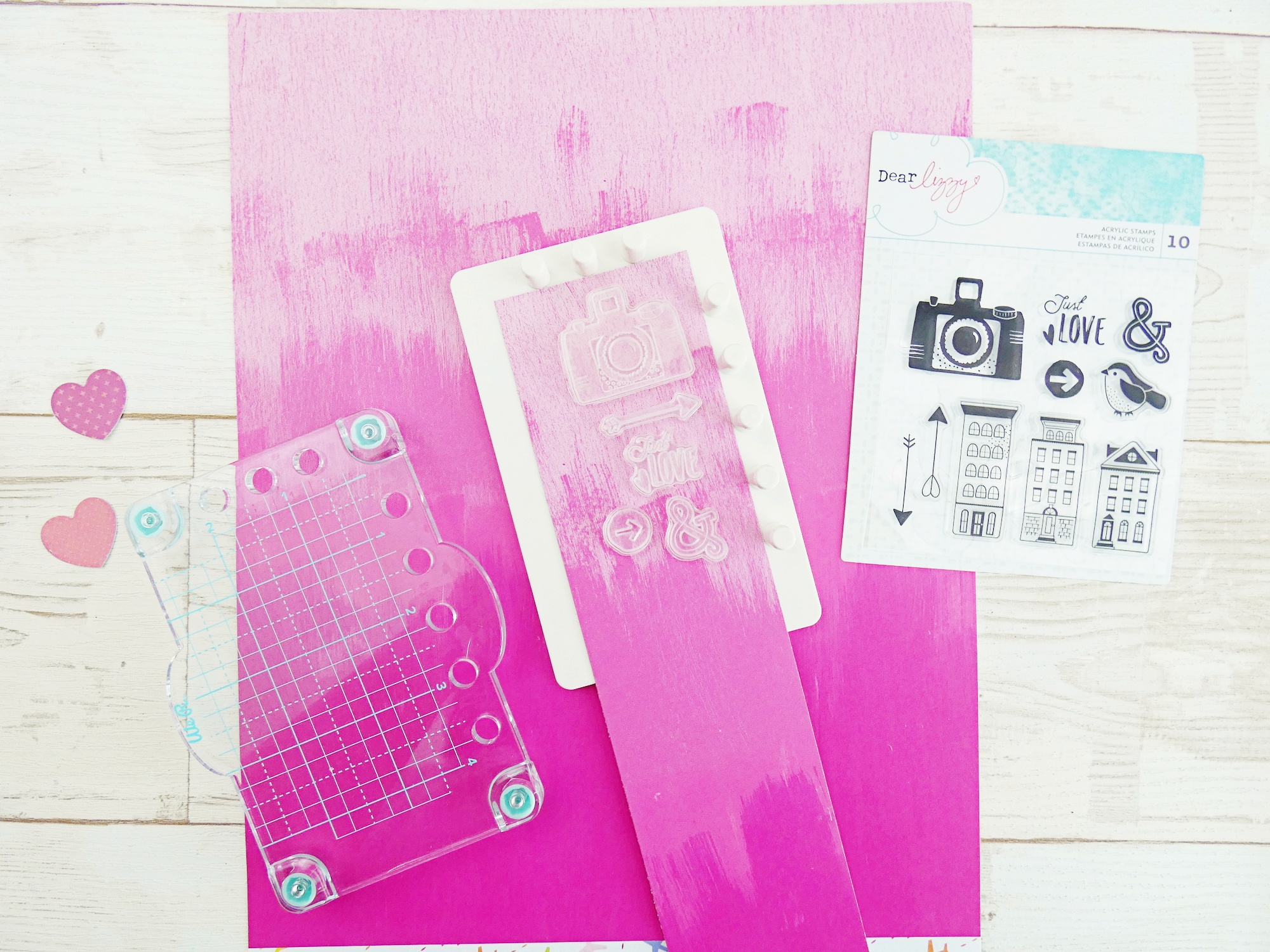 Make DIY scrapbook page embellishments with the We R Memory Keepers Mini Precision Press