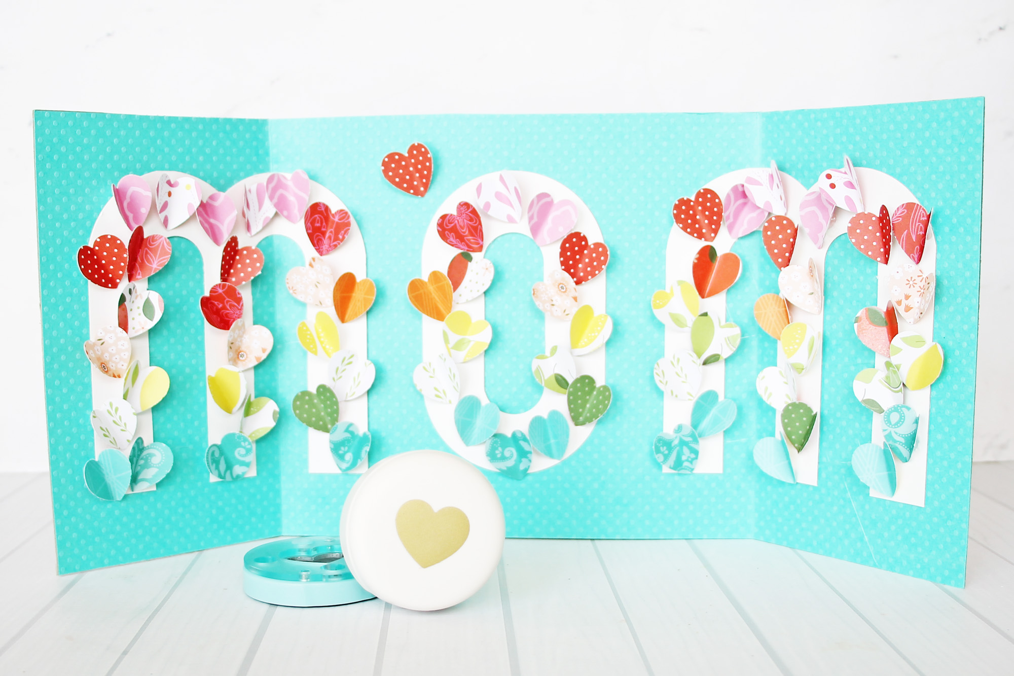 Mother's Day Heart Art Gift Idea by Laura Silva for We R Memory Keepers