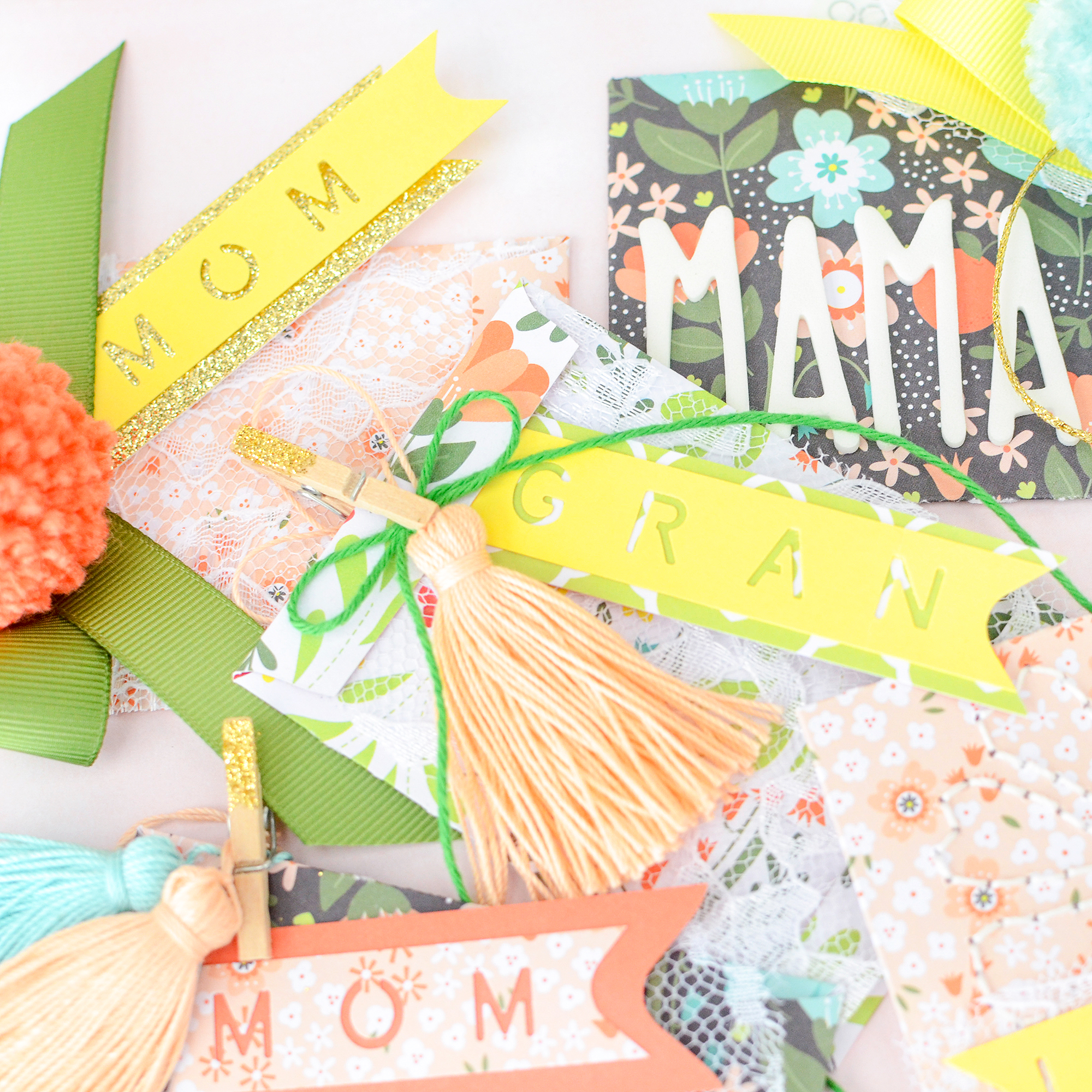 Mother's Day Gift Wrap Ideas by Rebecca Luminarias for We R Memory Keepers