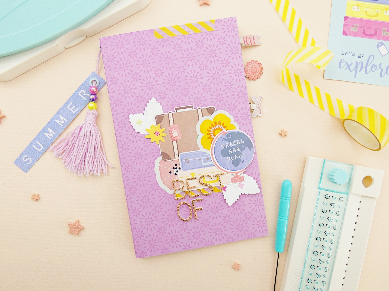Best of Summer Traveler's Notebook by Soraya Maes for We R Memory Keepers