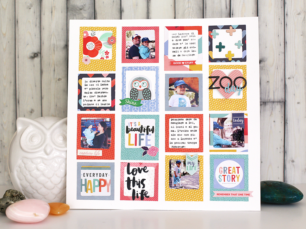 Summer Scrapbook Layout with the We R Memory Keepers Frame Punch Board