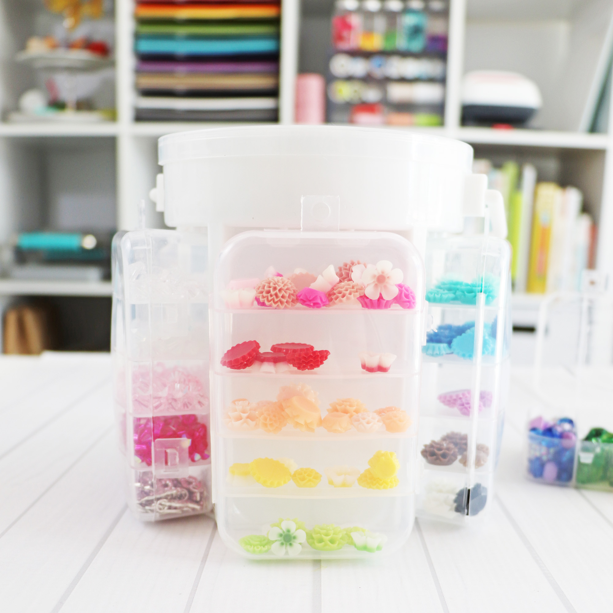 Plastic Storage for Craft Rooms by Laura Silva for We R Memory Keepers