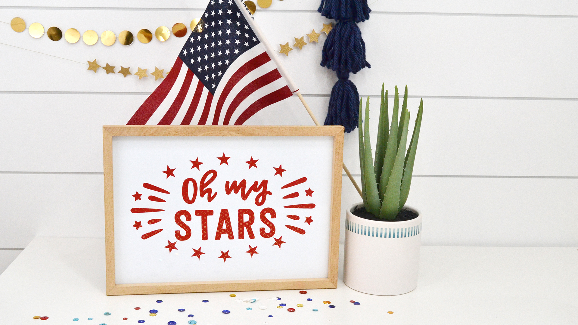 DIY Patriotic Decor by Aly Dosdall for We R Memory Keepers