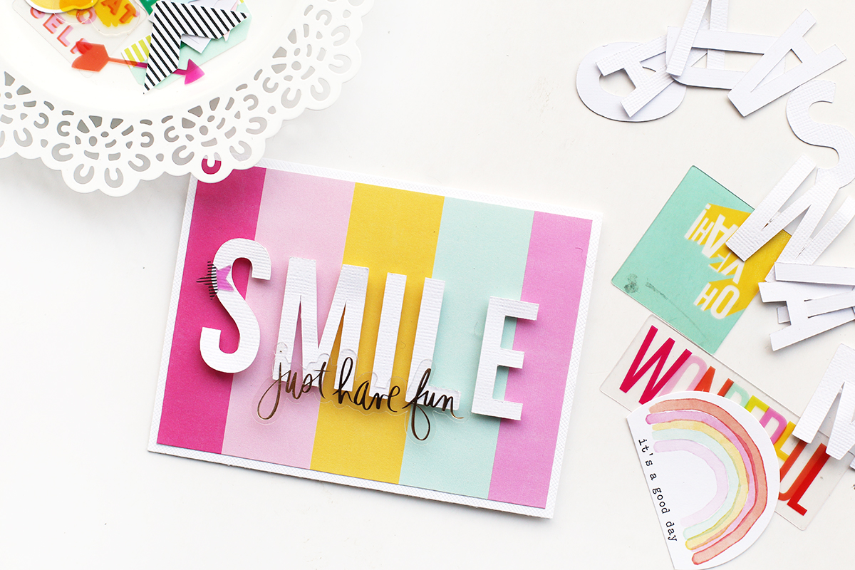Handmade Cards with the Mini Laser Square by Eva Pizarro for We R Memory Keepers