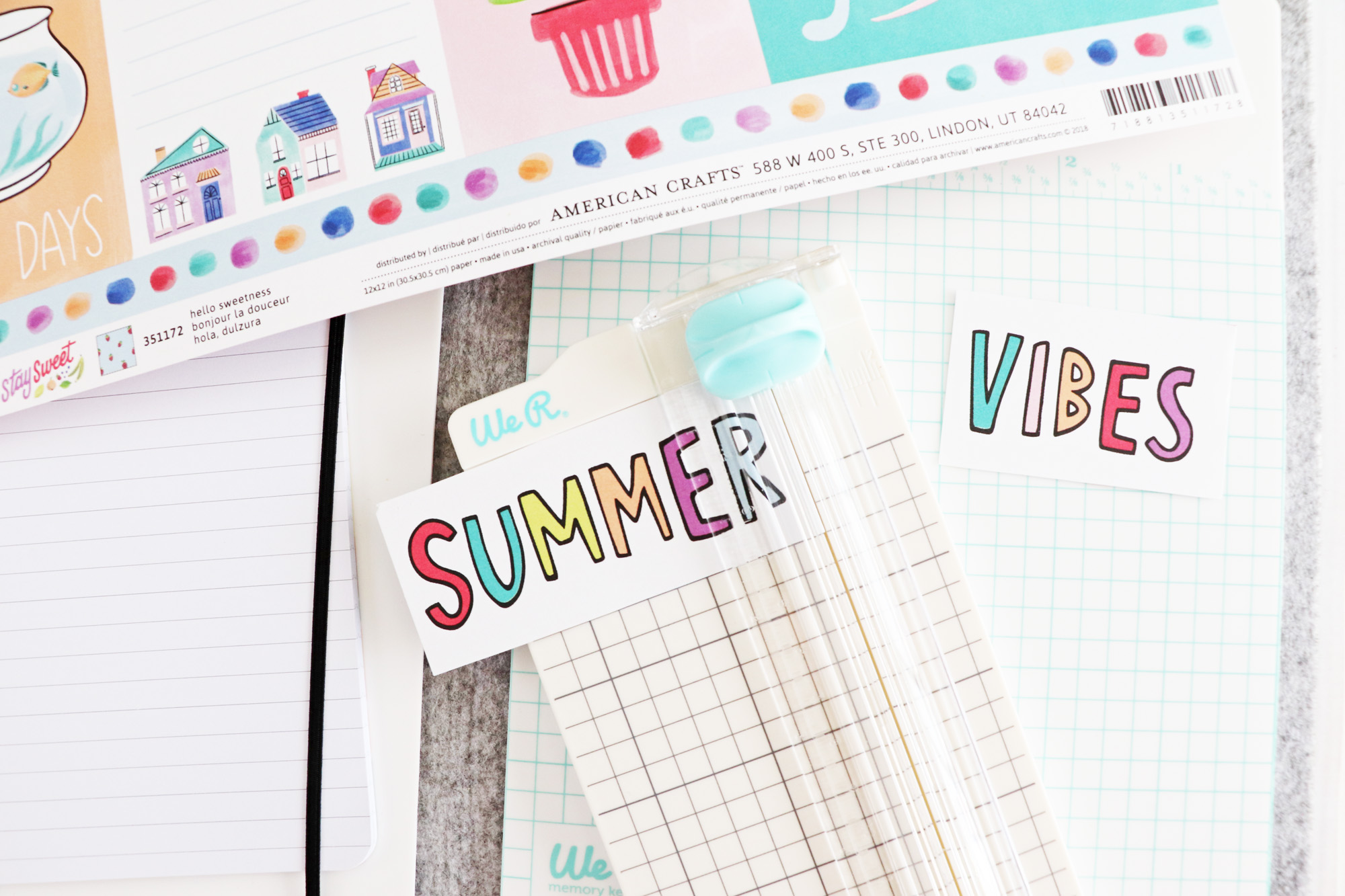 Summer Travelers Notebook Spread by Laura Silva for We R Memory Keepers