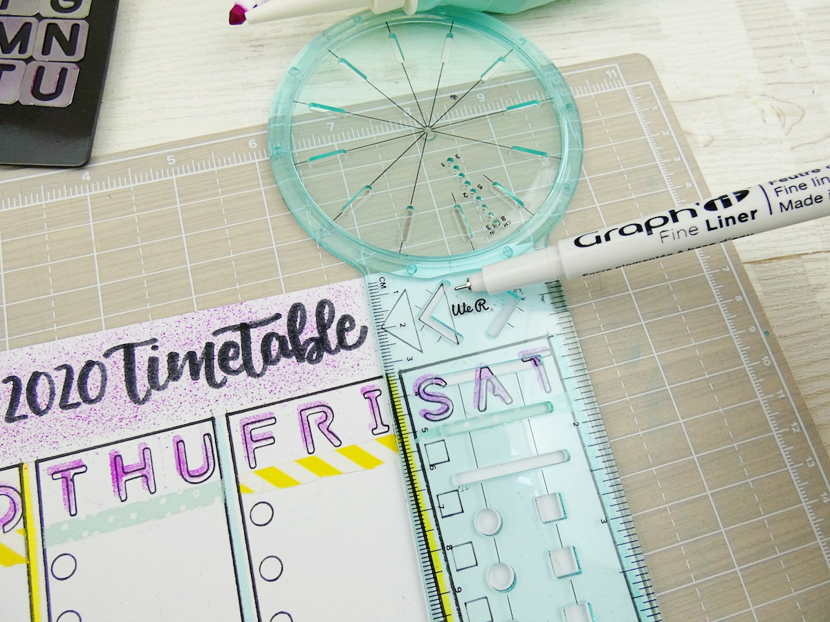 Back To School Erasable Timetable by Soraya Maes-15