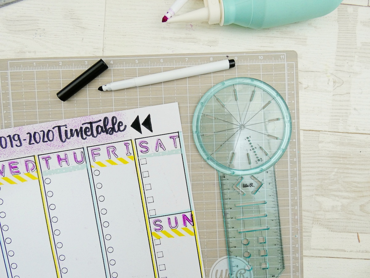 Back To School Erasable Timetable by Soraya Maes-16