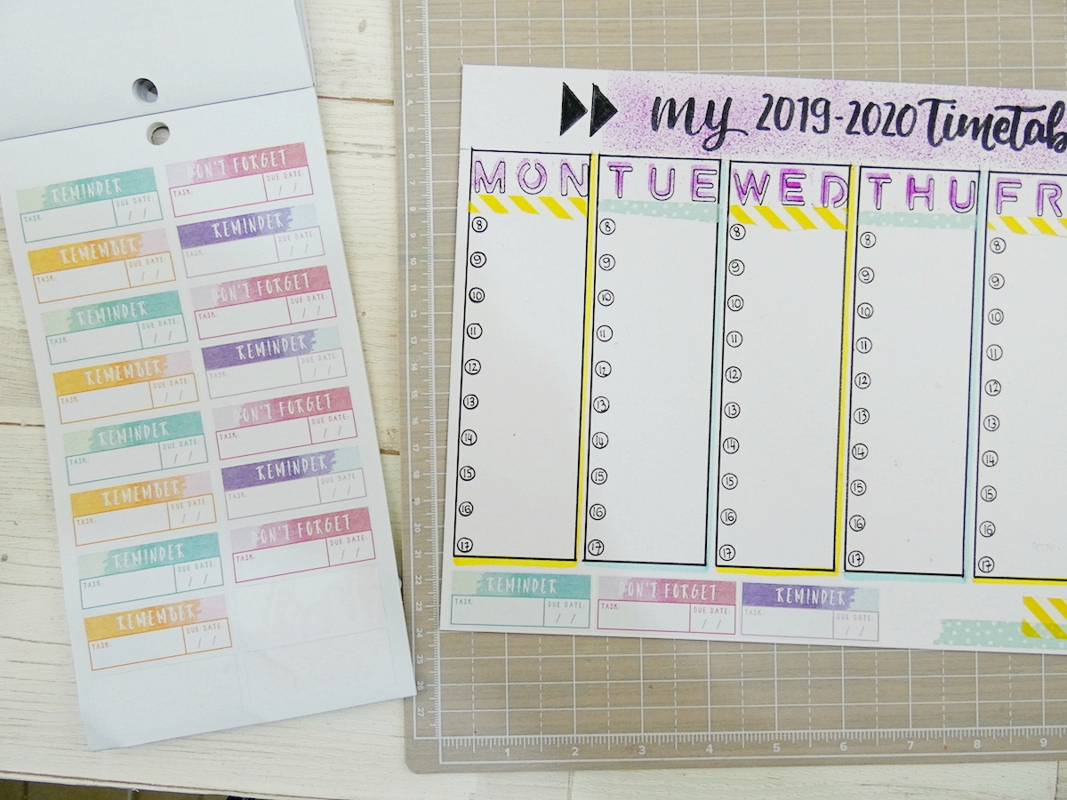Back To School Erasable Timetable by Soraya Maes-18
