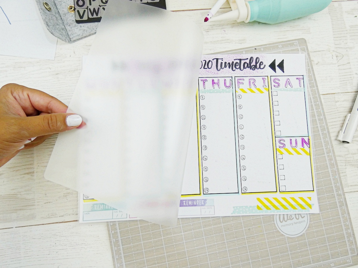Back To School Erasable Timetable by Soraya Maes-19
