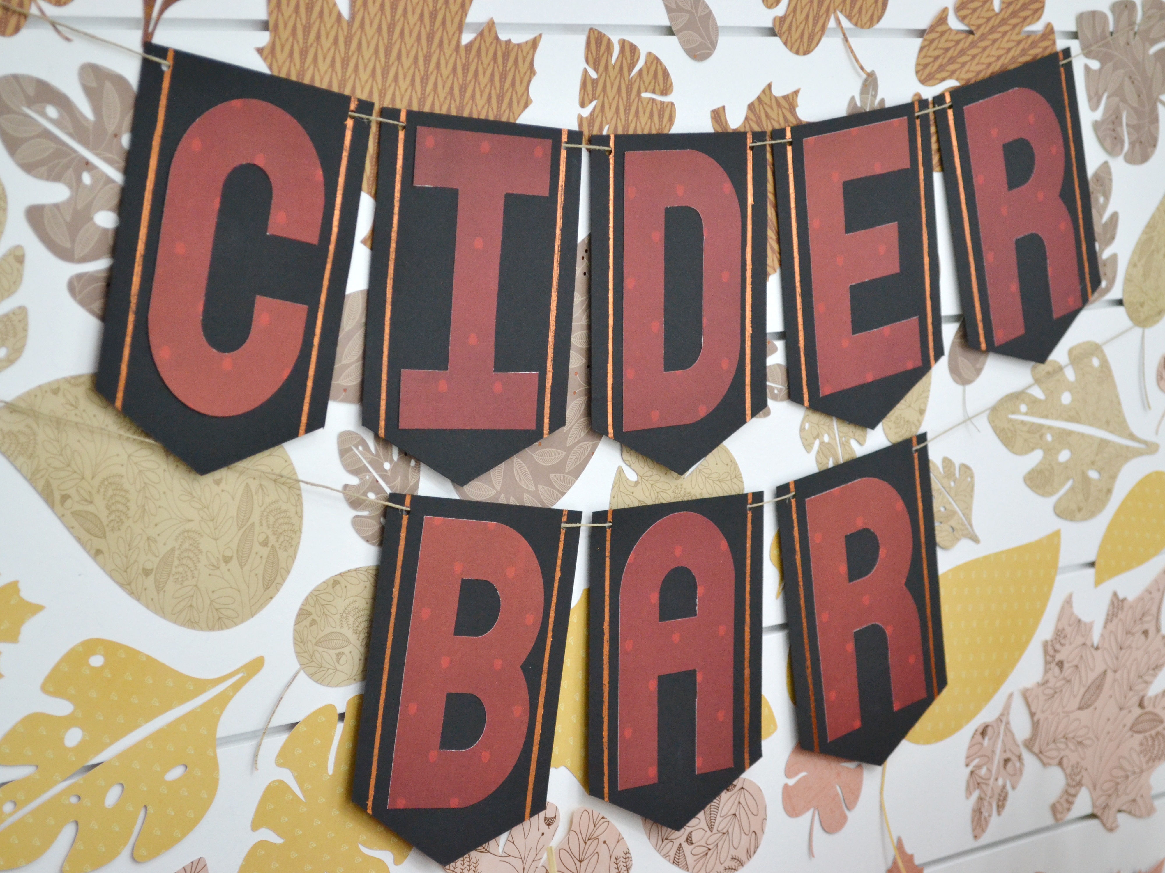 Apple Cider Bar with the We R Memory Keepers Foil Quil Freestyle Pens and the DCWV Inc Cider Woods paper stack. Supplies for this project are available at Joann Stores.