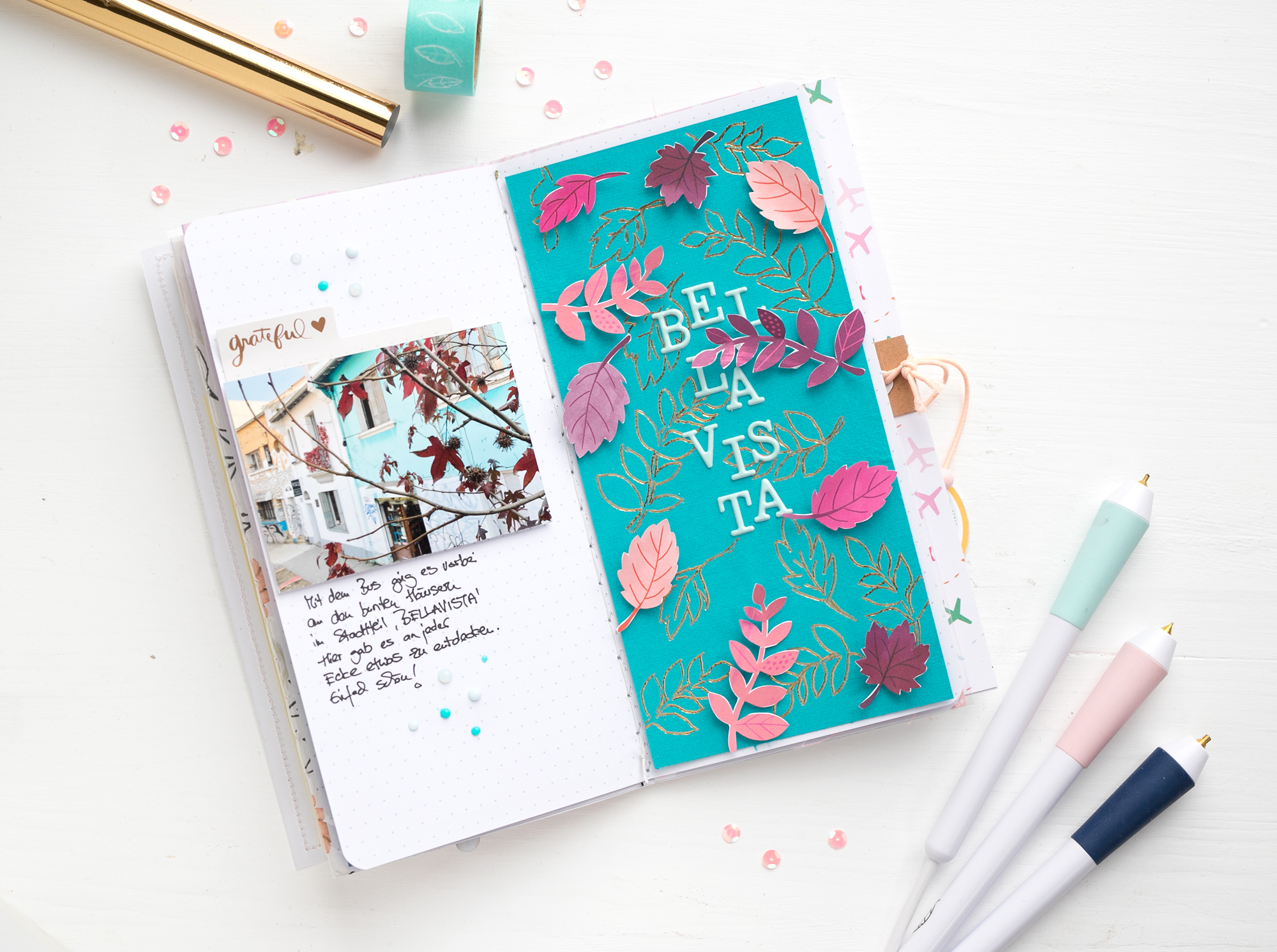 Travel Journal with the Freestyle Pens by Steffi Ried for We R Memory Keepers