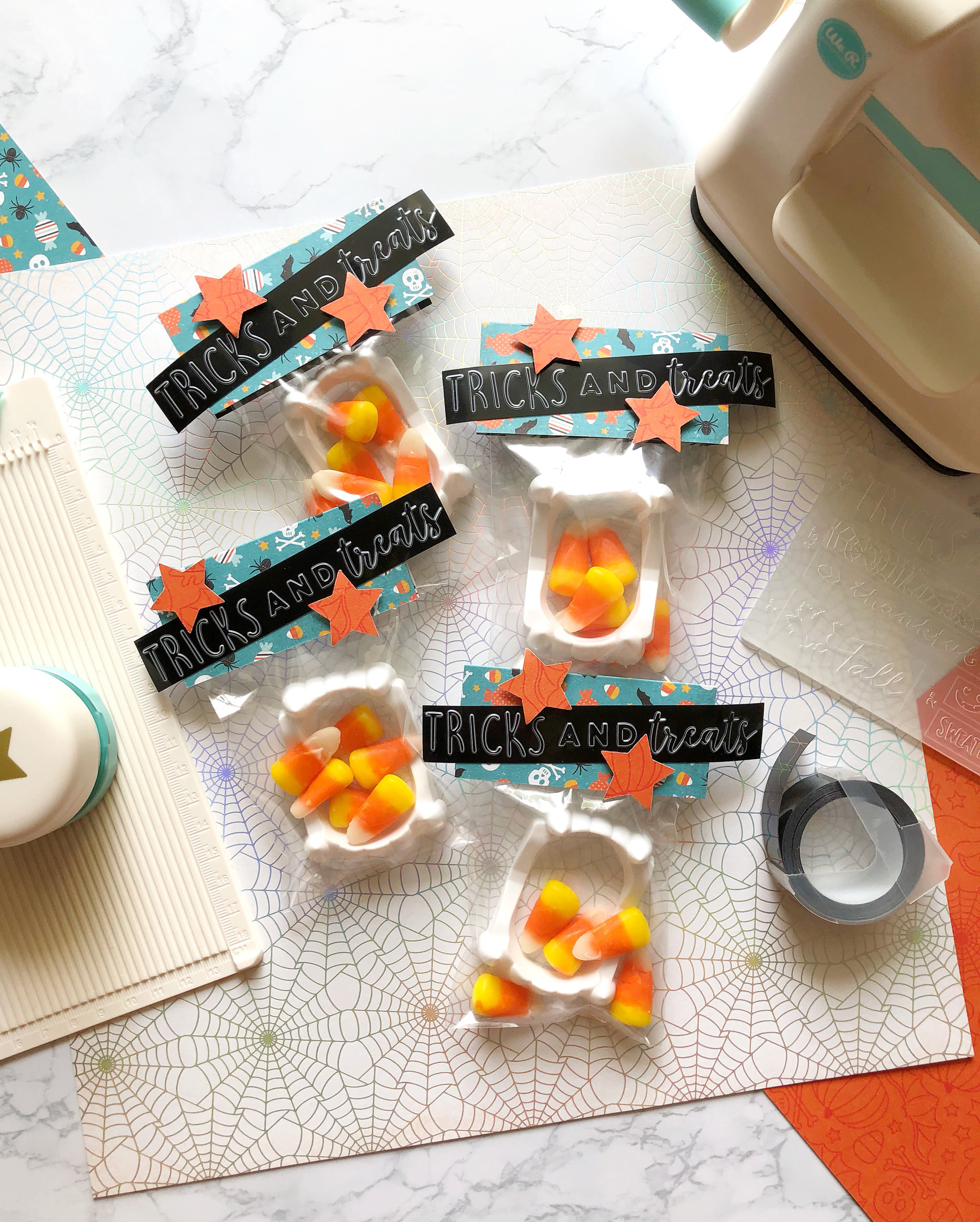 DIY Halloween Treat Bags with the Mini Evolution by Kimberly Crawford by We R Memory Keepers
