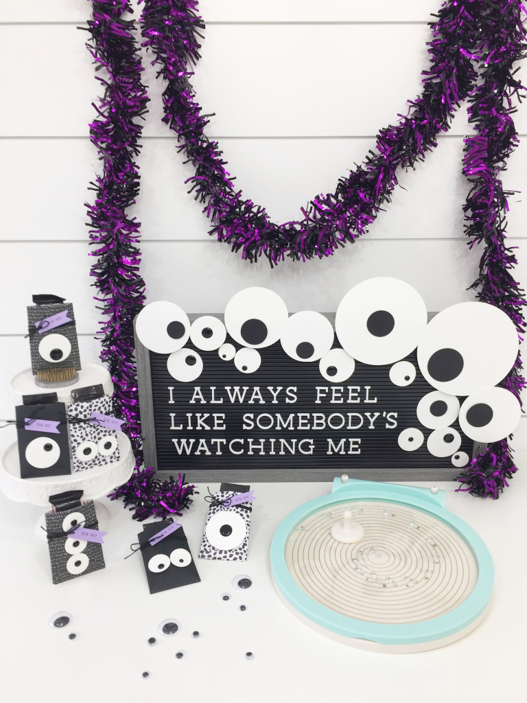 Googly Eye Halloween Party Favors with the Circle Spin & Trim