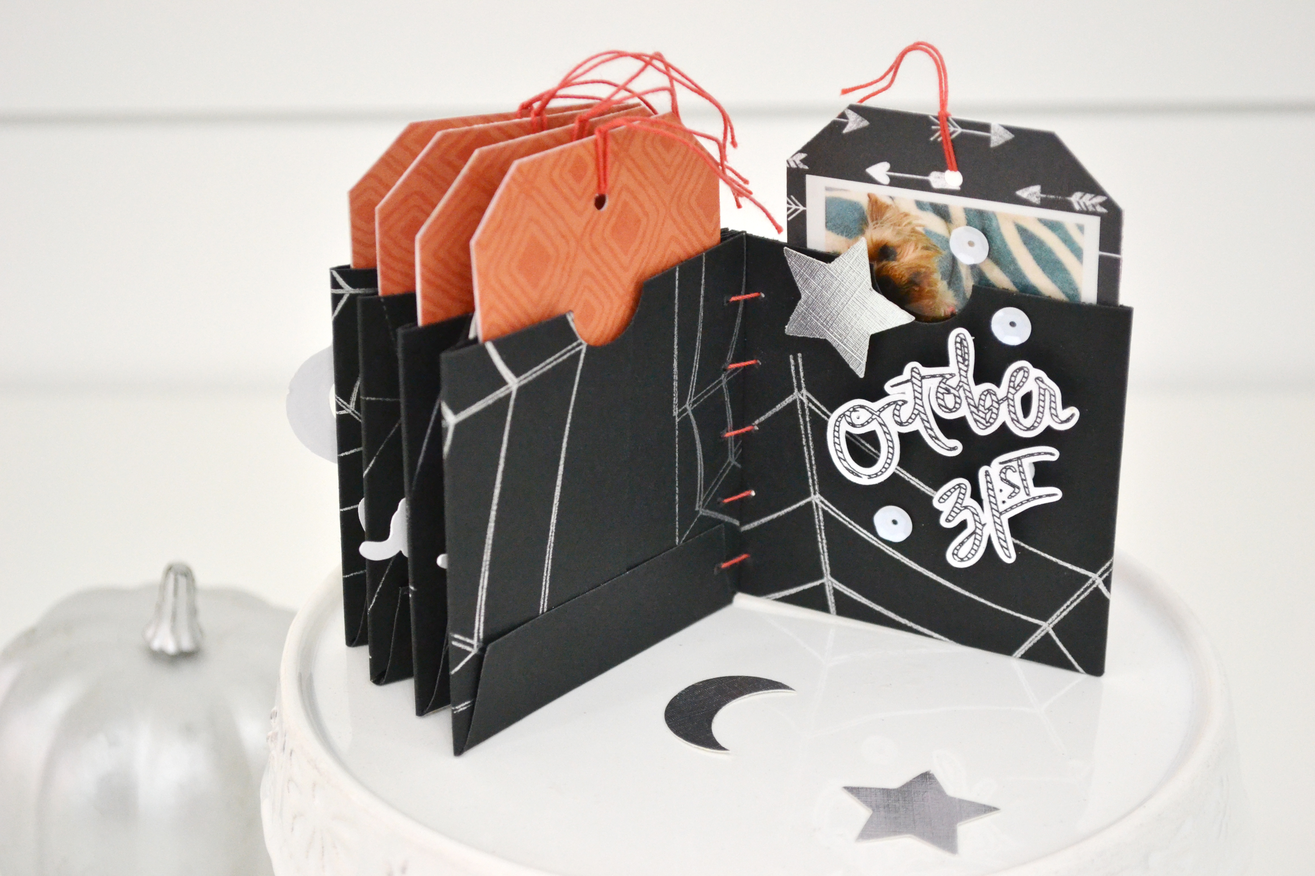 Halloween Mini Album with the Foil Quill by Aly Dosdall for We R Memory Keepers 10