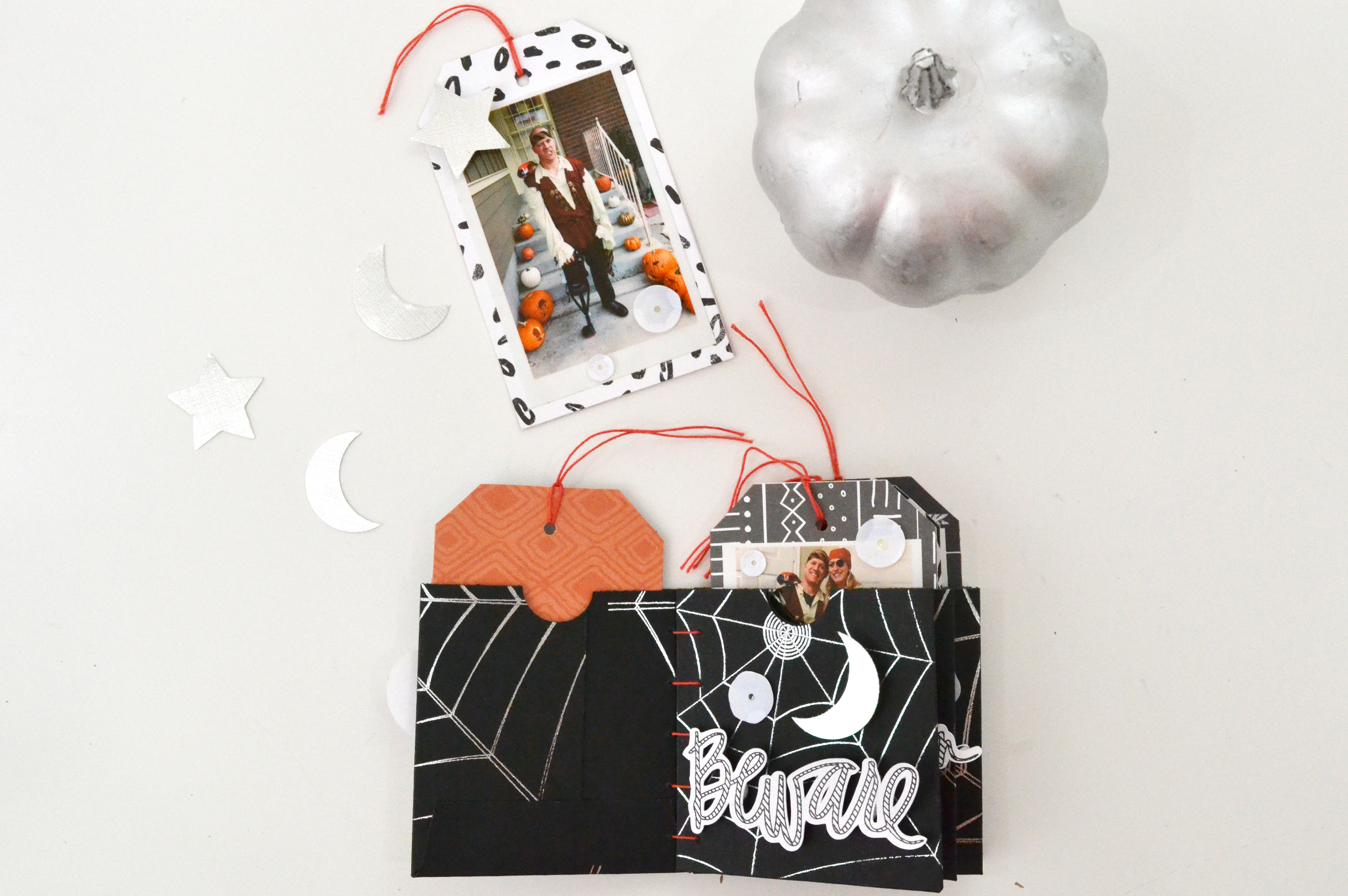 Halloween Mini Album with the Foil Quill by Aly Dosdall for We R Memory Keepers 12