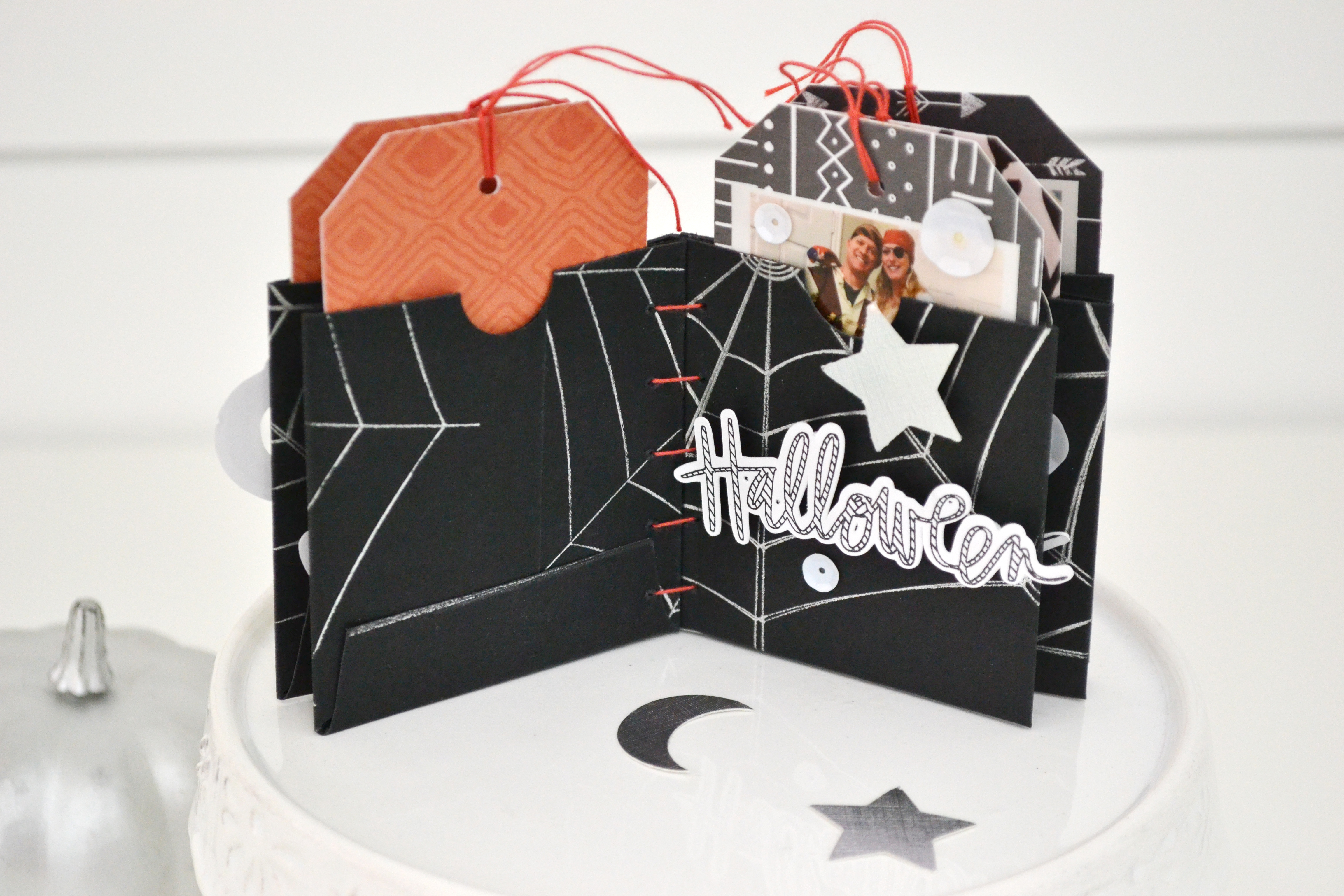 Halloween Mini Album with the Foil Quill by Aly Dosdall for We R Memory Keepers 8