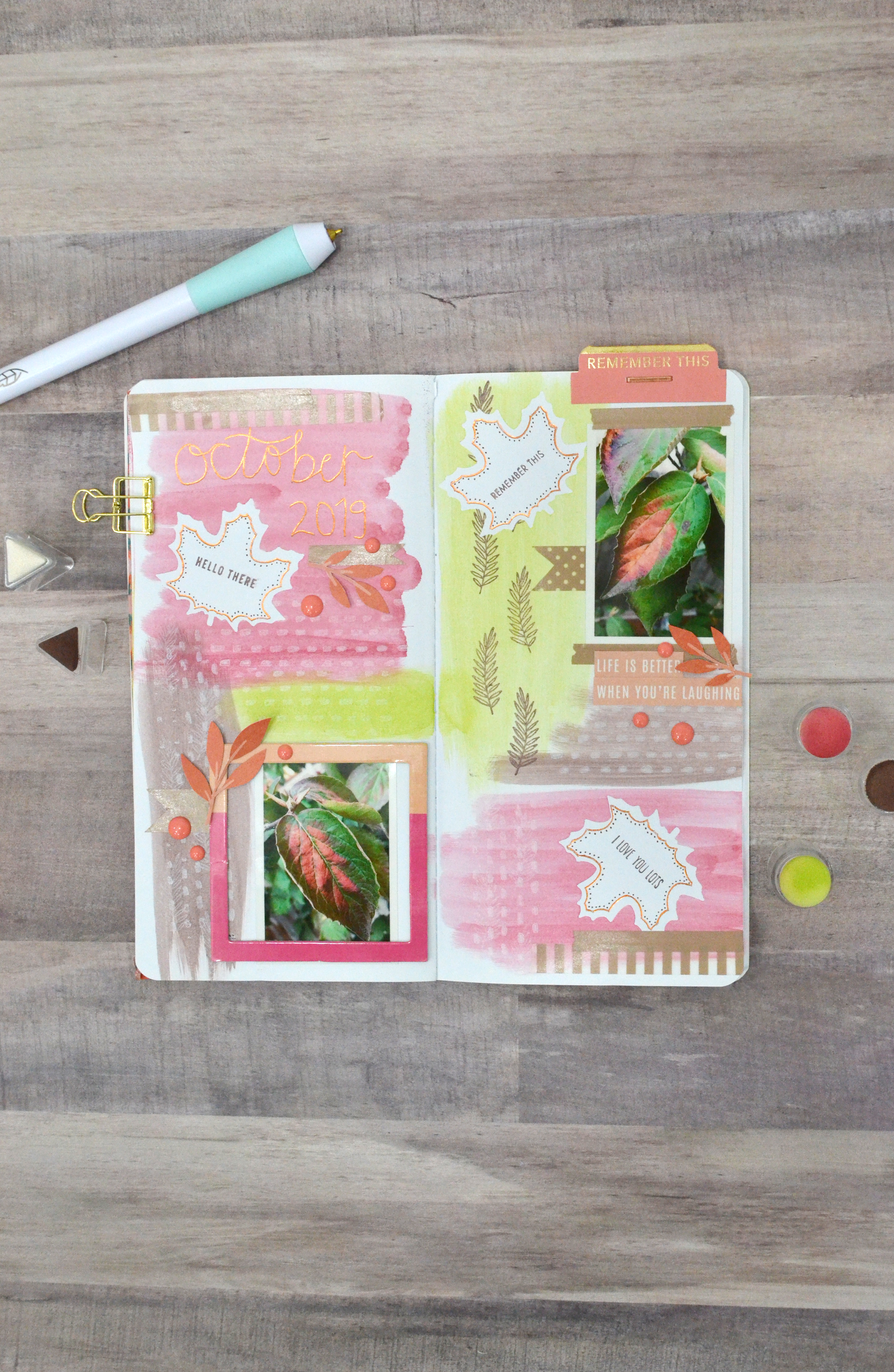 October TN Dashboard by Aly Dosdall for We R Memory Keepers 1