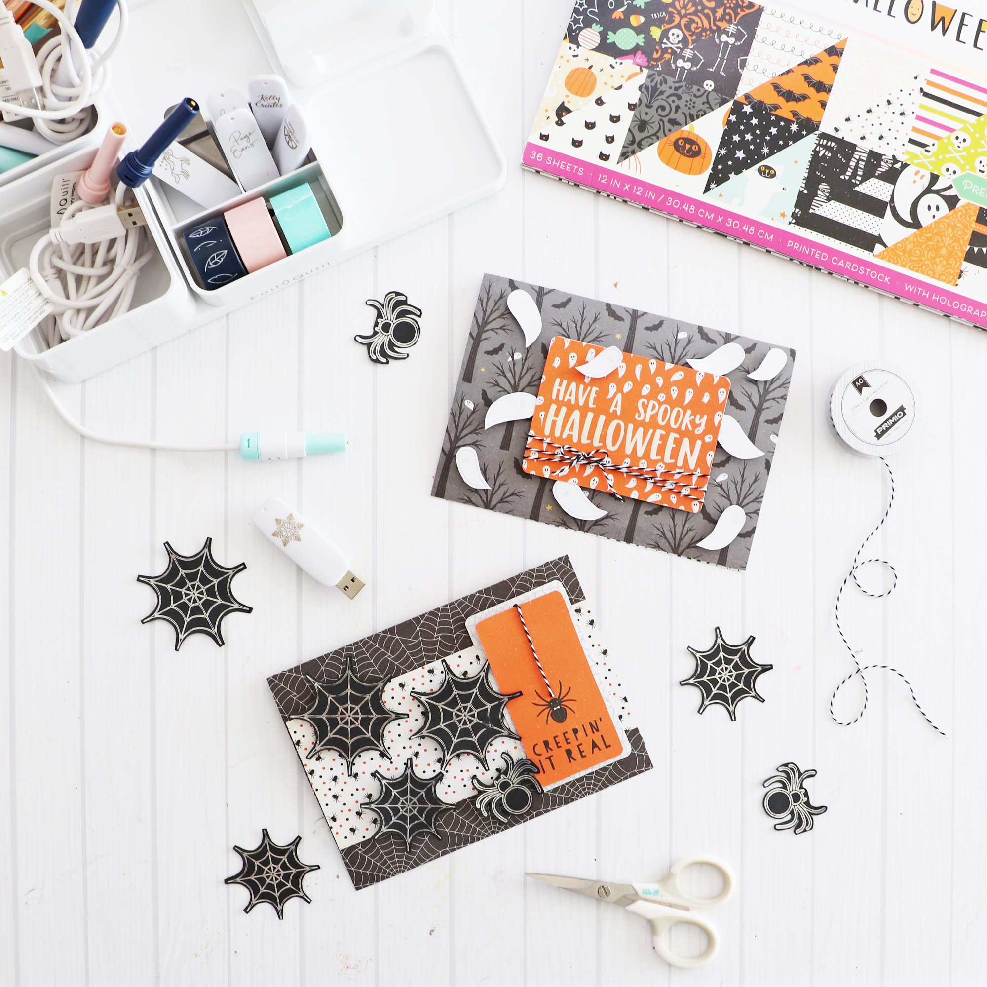 Halloween Cards with the Foil Quill by Laura Silva for We R Memory Keepers