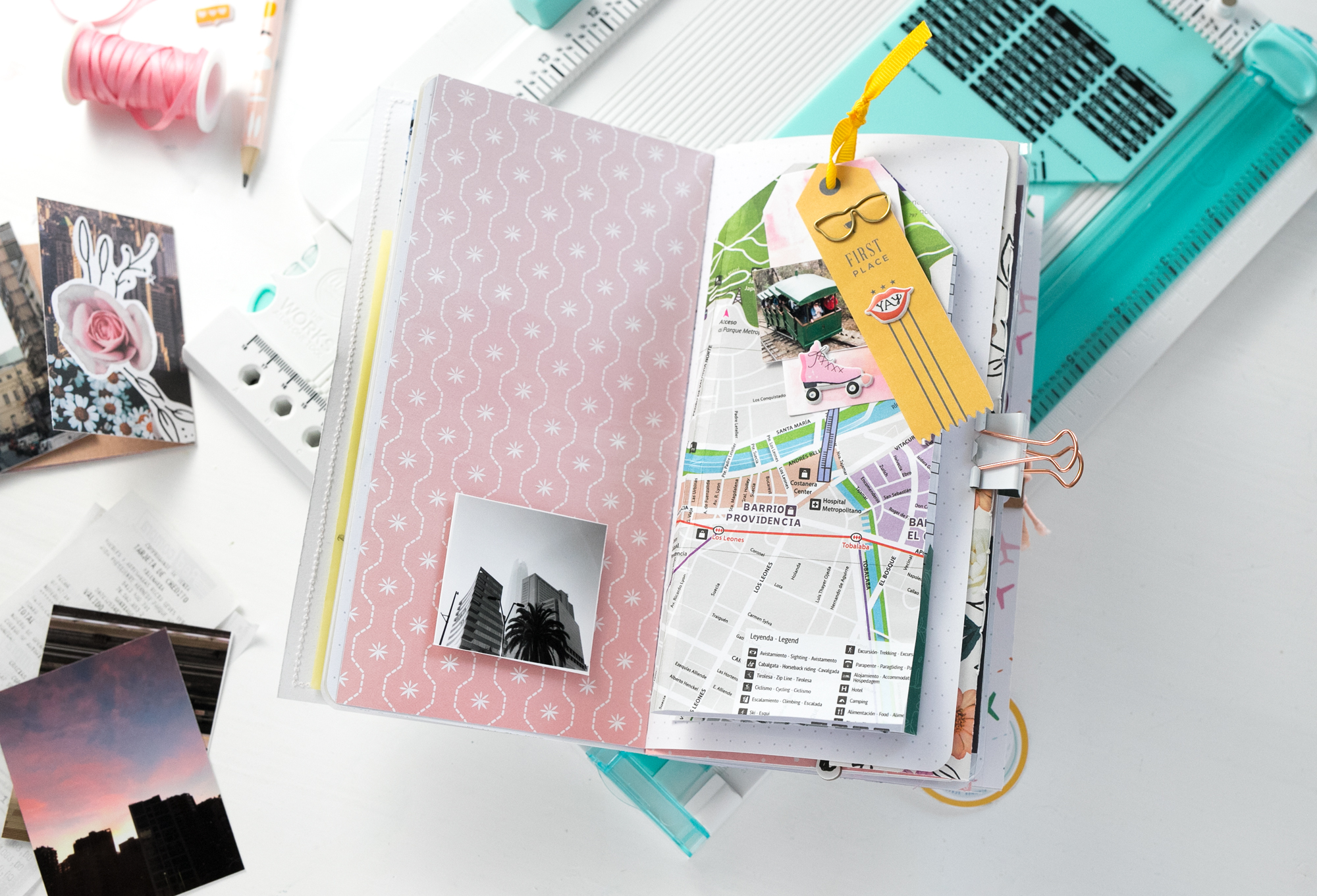 Traveler's Notebook with The Works All In One Tool by Steffi Ried