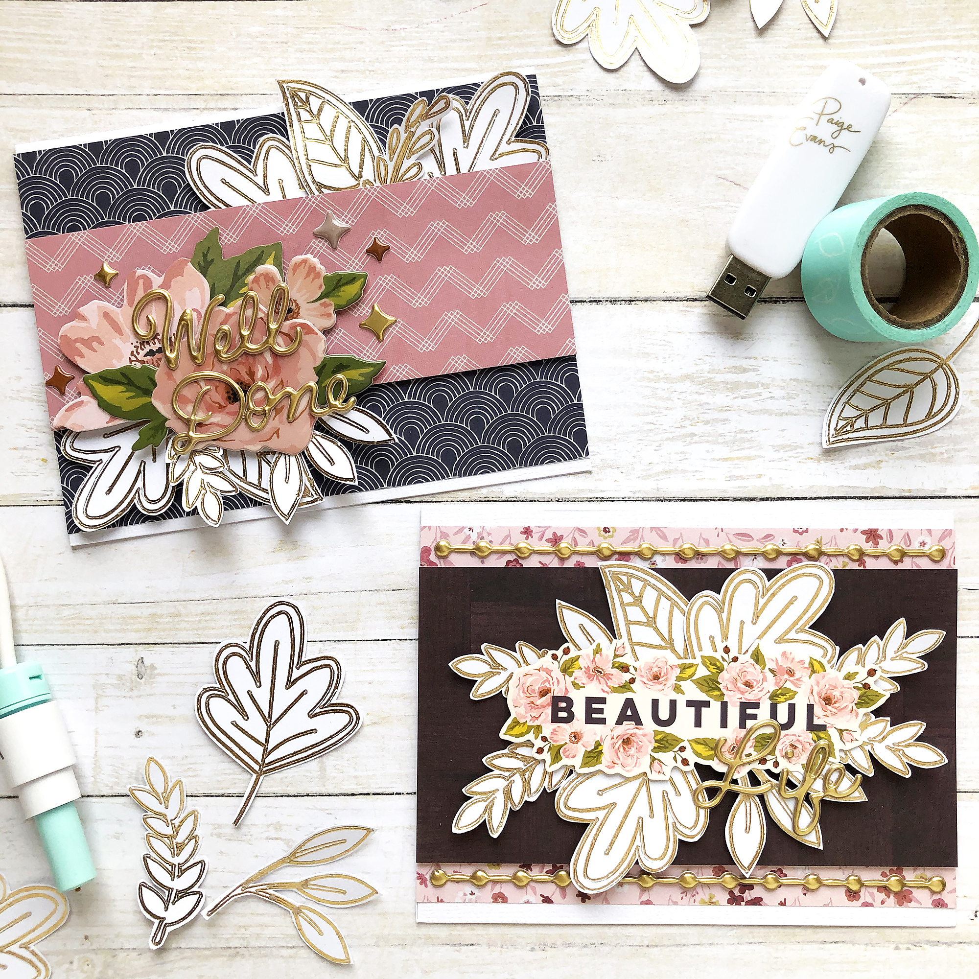Fall Card Set with the Foil Quill by Enza Gudor for We R Memory Keepers