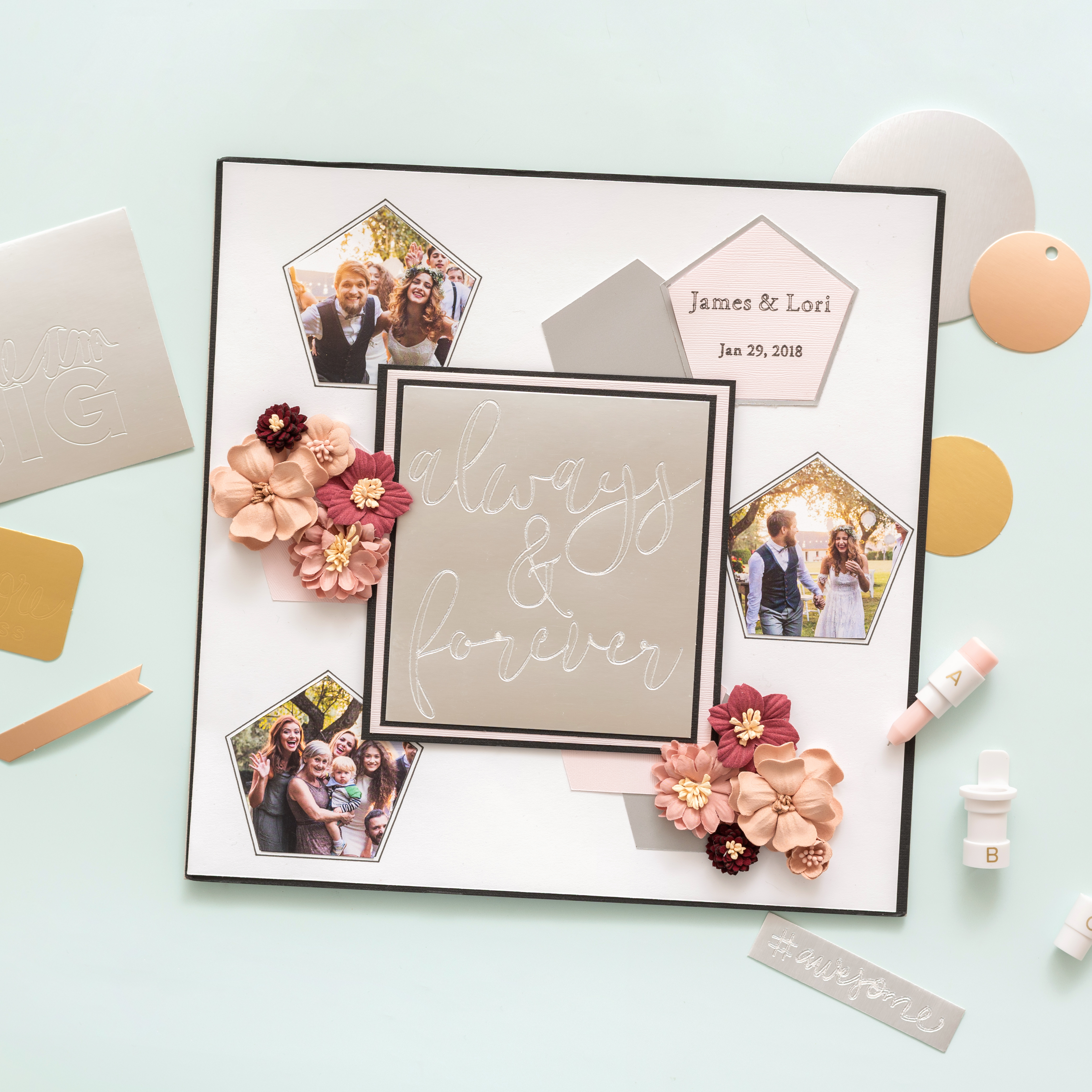 Scrapbook Page with the Bevel Quill