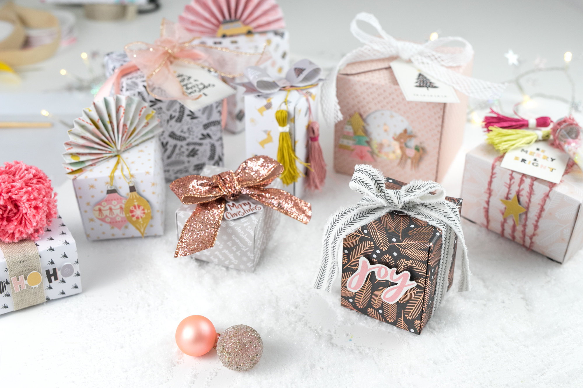 DIY Holiday Gift Boxes by Steffi Ried for We R Memory Keepers