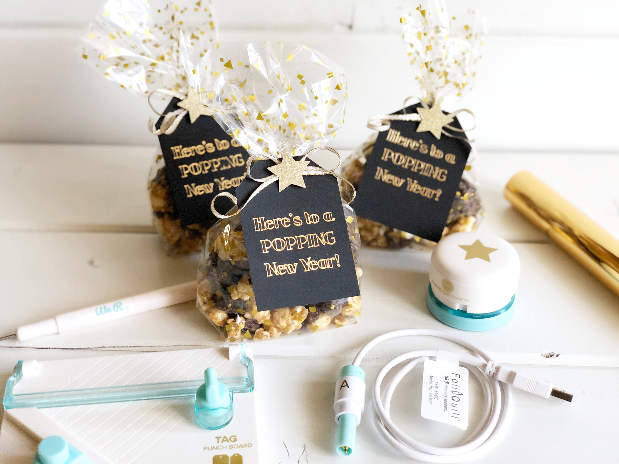 New Years Eve Party Favors with the Foil Quill by Kimberly Crawford for We R Memory Keepers