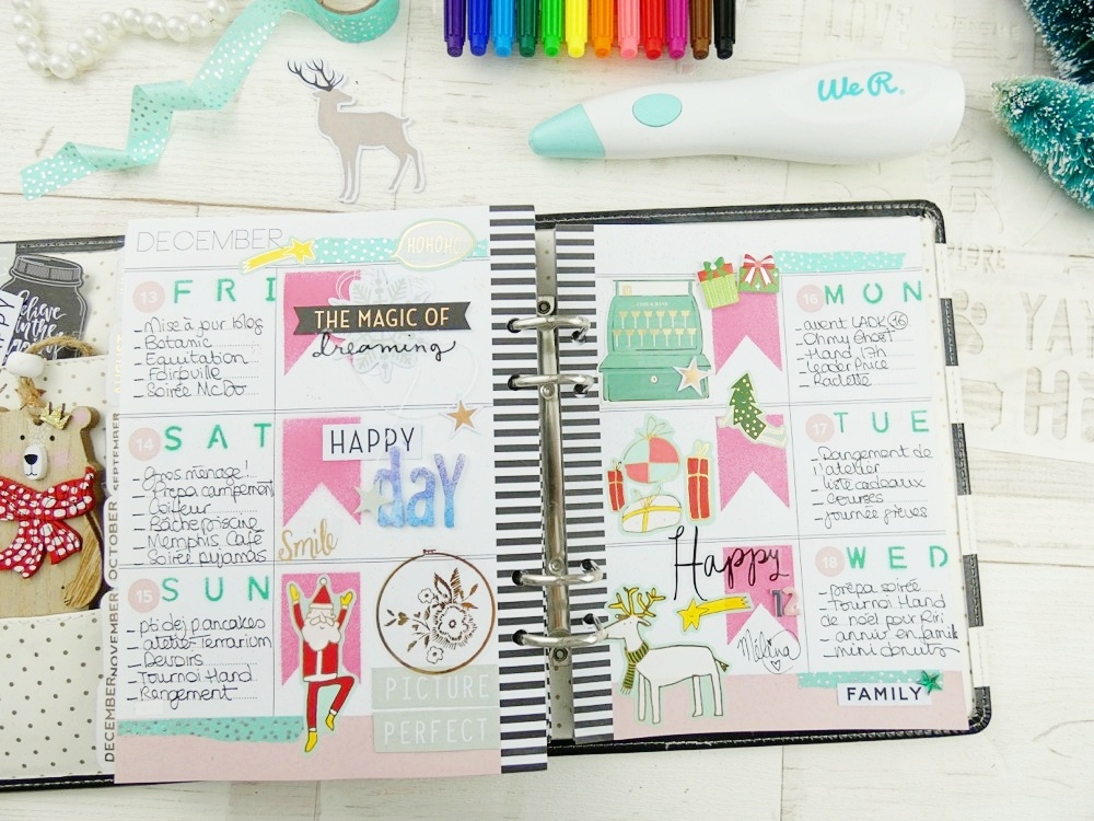 One Tool, Three Ways: Planner Spread with the Cordless Marker Airbrush by Soraya Maes for We R Memory Keepers