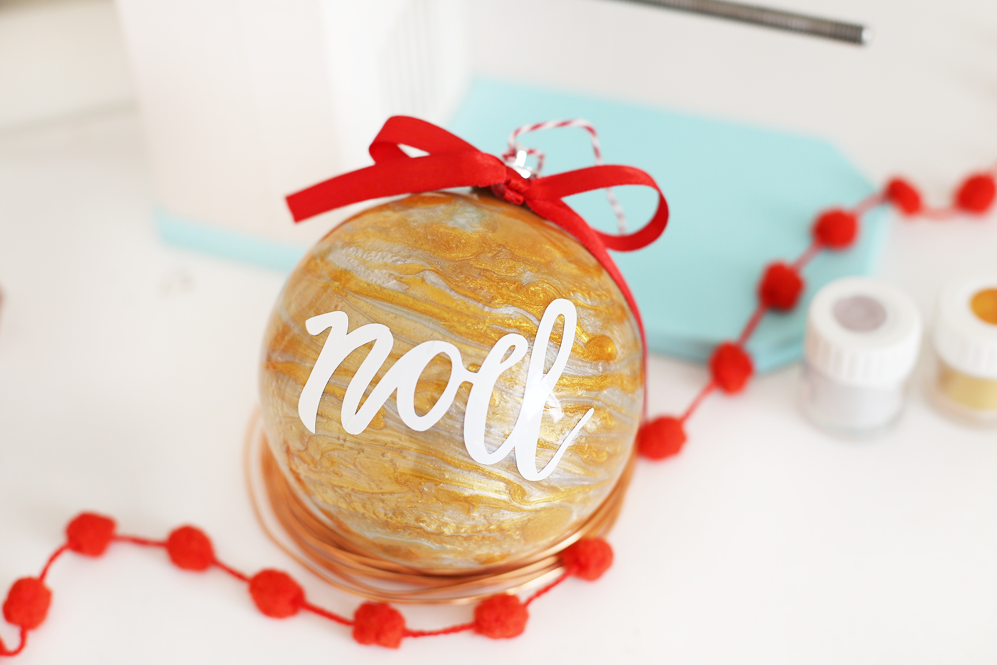 Custom Christmas Ornament with the Spin It Ornament Arm by We R Memory Keepers