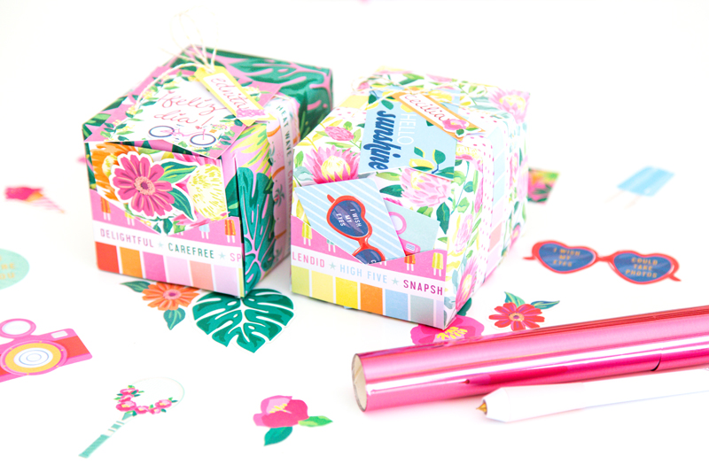 Make custom gift wrap with the Foil Quill by We R Memory Keepers!