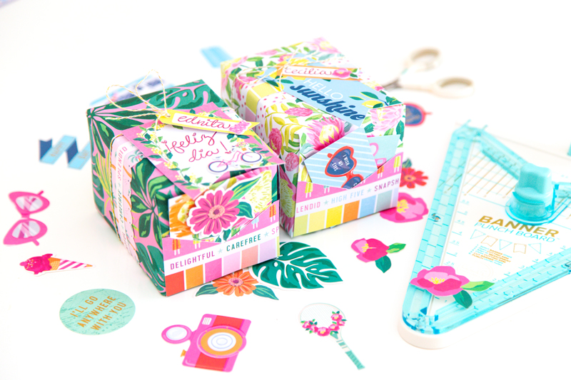 Make custom gift wrap with the Foil Quill and the Banner Punch Board by We R Memory Keepers!