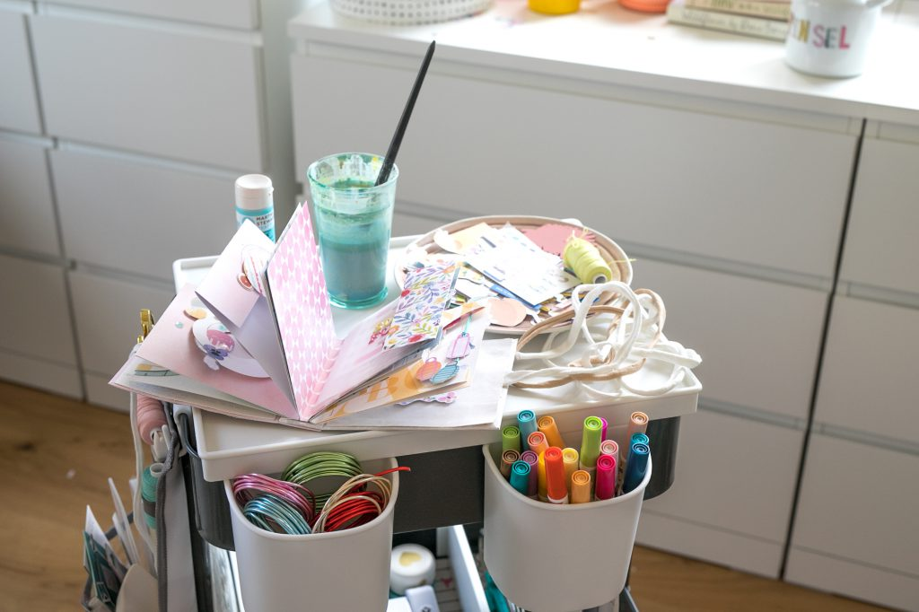Get your craft supplies organized with the We R Memory Keepers A La Cart storage cart!
