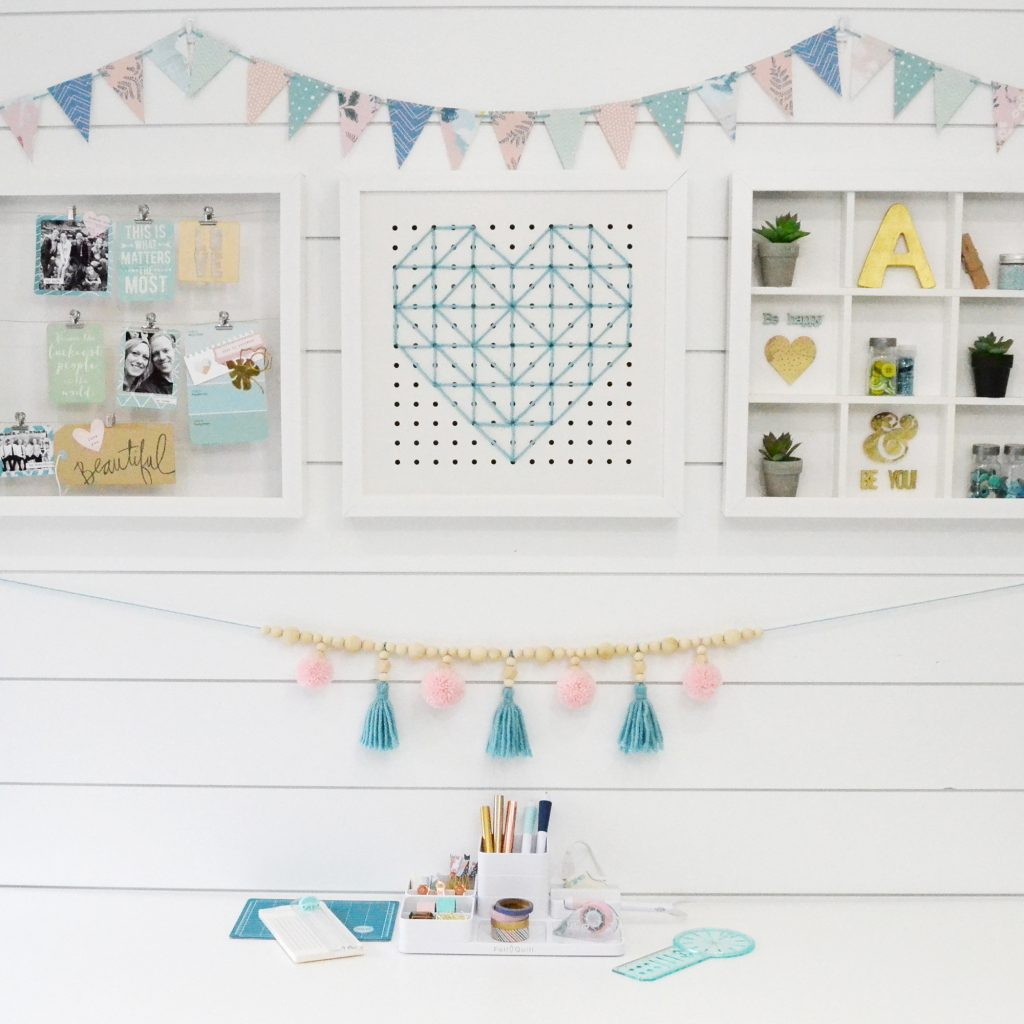 DIY Tassel Garland by Aly Dosdall for We R Memory Keepers featuring the Tassel Loom.