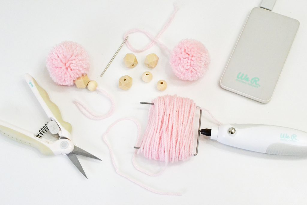 DIY Tassel Garland by Aly Dosdall for We R Memory Keepers featuring the USB Power Spinning Tool.