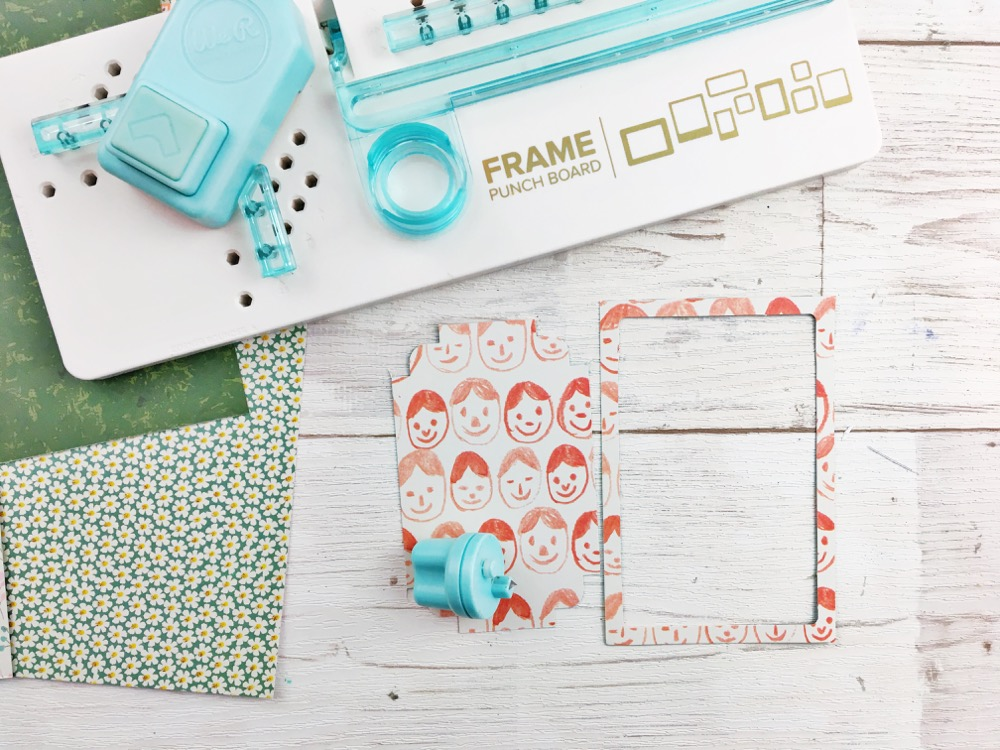 Kids Craft: Make an Activity Memo Board with the We R Memory Keepers Frame Punch Board and basic supplies you probably have at home!