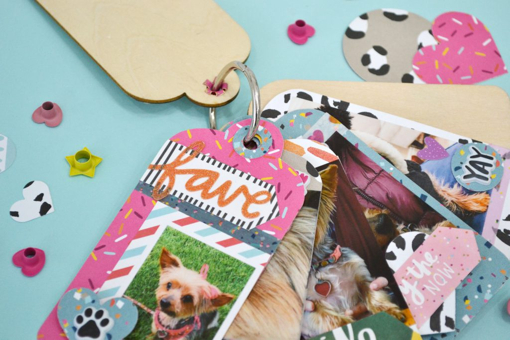 Crop-A-Dile Tag Mini Album by Aly Dosdall for We R Memory Keepers