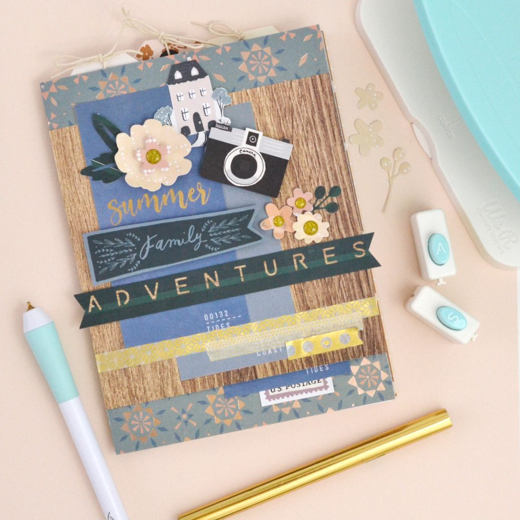 Learn how to make a summer journal with We R Memory Keepers tools.