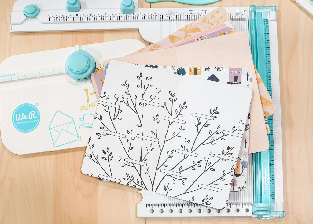 Make a Nature Journal to record your summer adventures at home with the We R Memory Keepers Book Binding Guide and the Pocket Punch Board.
