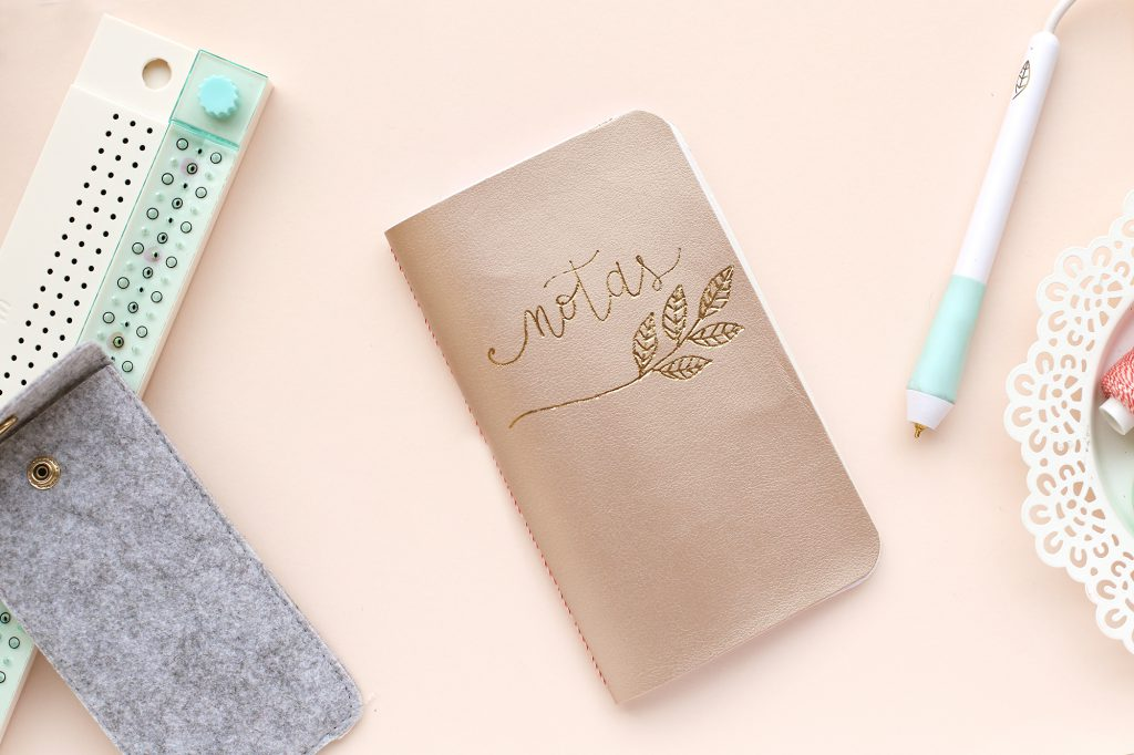 Learn how to personalize a DIY notebook with the Foil Quill + Book Binding Guide by We R Memory Keepers