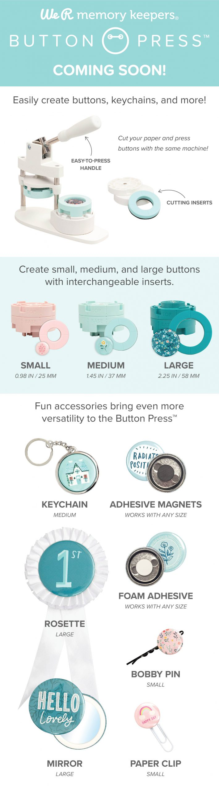 Button Press from We R Memory Keepers is coming to retailers in the summer of 2020!