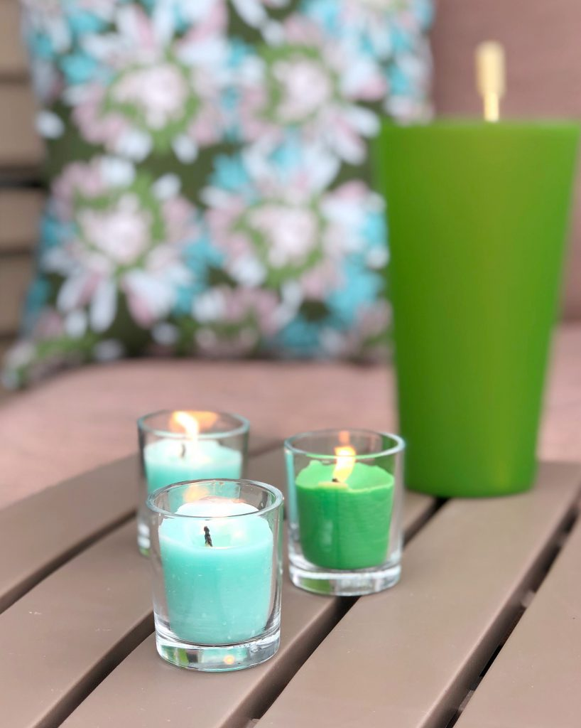 Learn how to make DIY Outdoor Candles to dress us your summer deck with the We R Memory Keepers Wick Candle Maker!