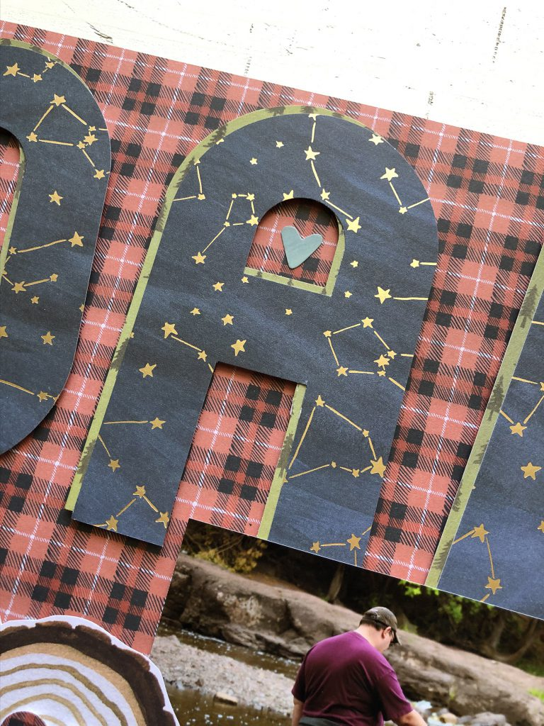 Make a stand-out Father's Day scrapbook page title with the Alphabet Punch Board!