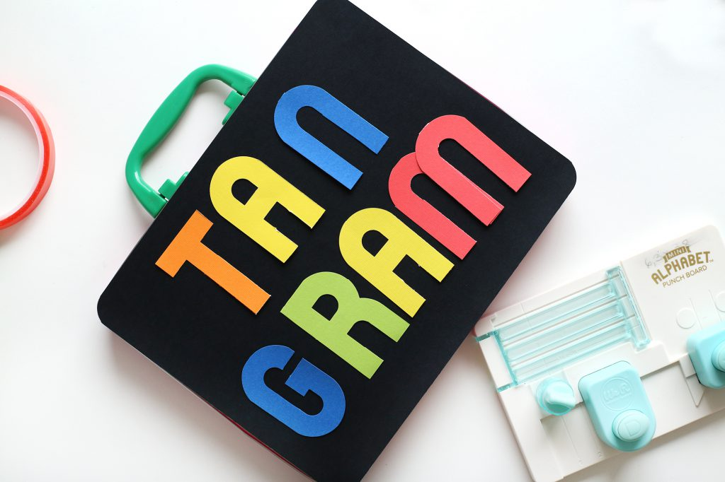 DIY Tan Gram Travel Game for Kids by Eva Pizarro for We R Memory Keepers
