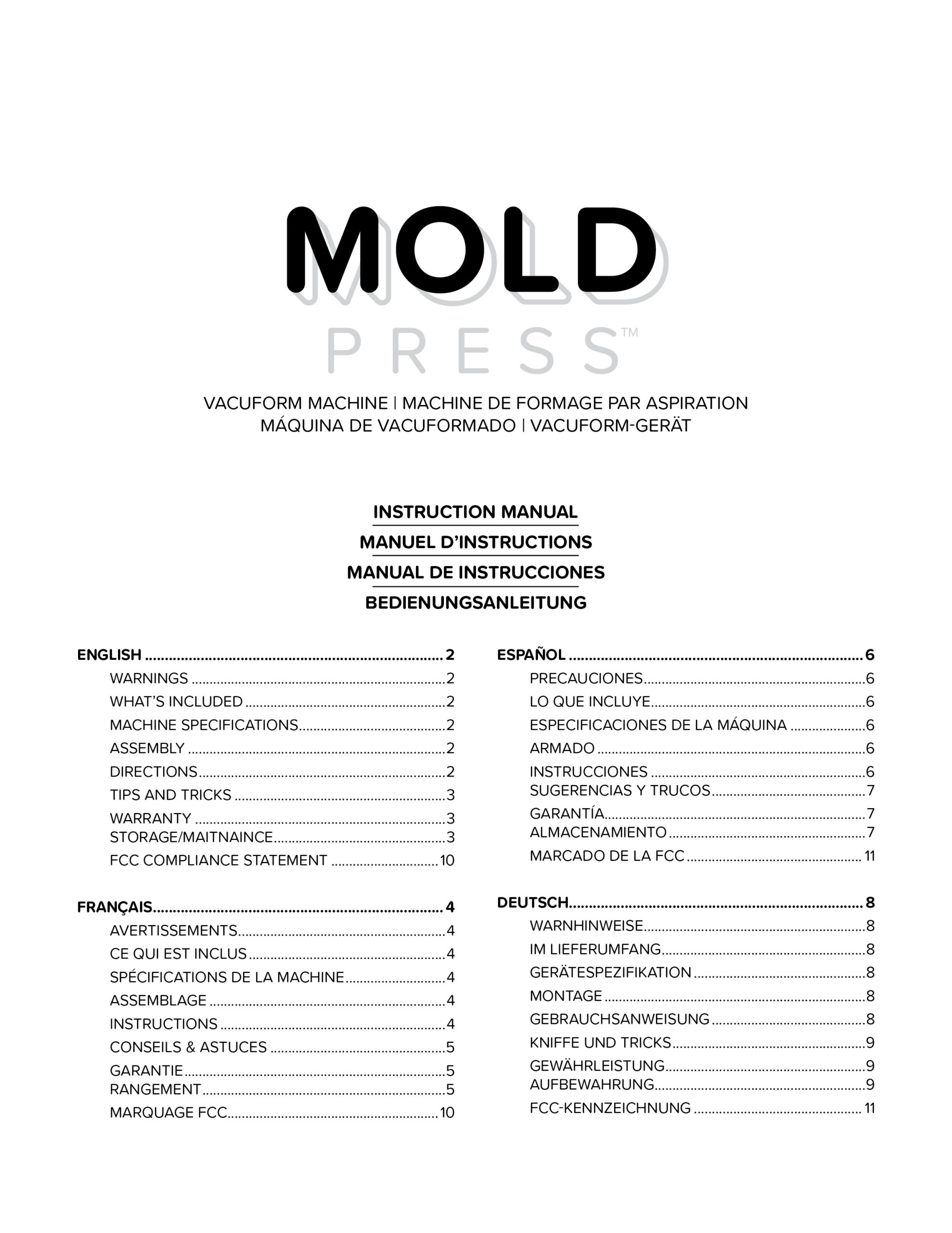 661033 WR_Instructions_MoldPress_Vacuform_V4_1