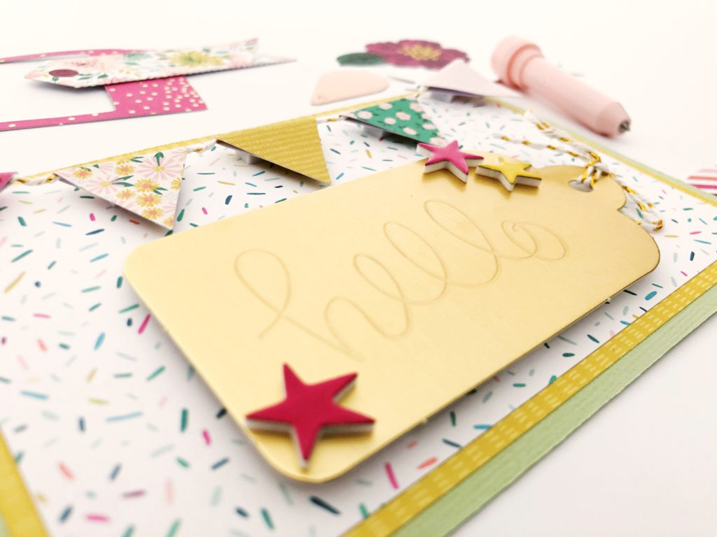 Create the look of engraved metal on a handmade card with the Bevel Quill!
