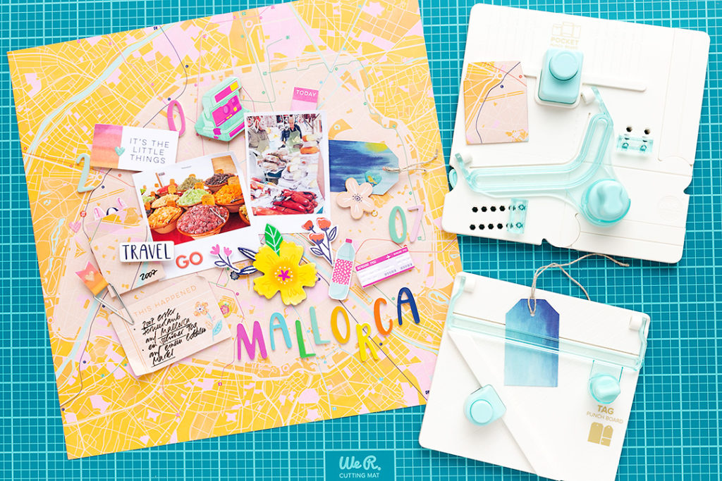Create an interactive pocket on your scrapbook page with the Pocket Punch Board by We R Memory Keepers!
