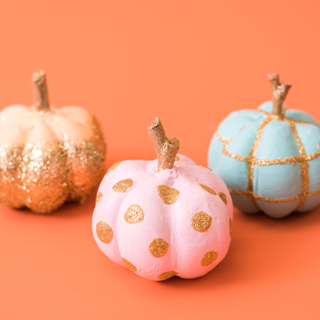 Painted Ceramic Pumpkins with the Mold Press