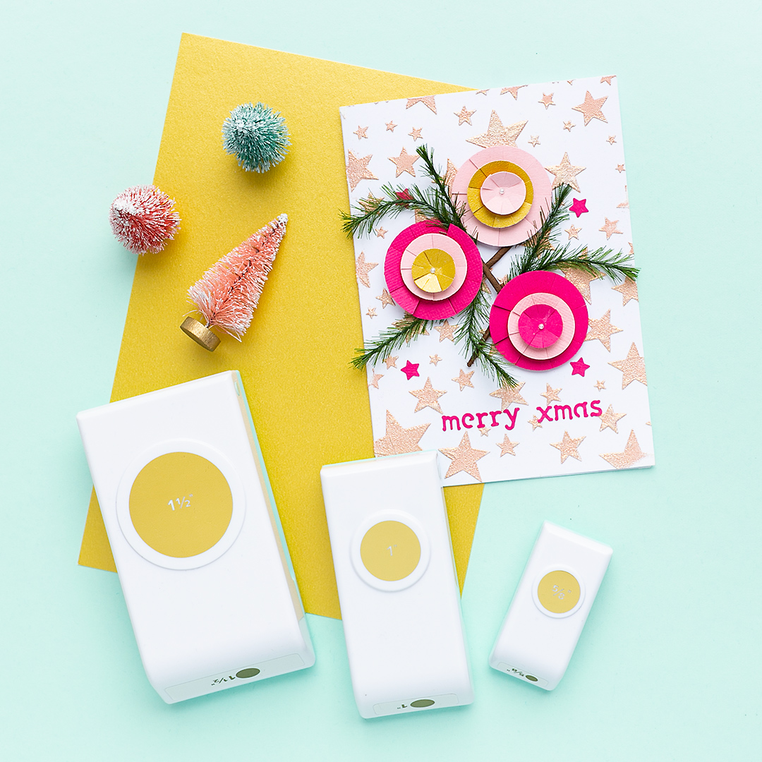 Christmas Card with Nesting Punch Circle