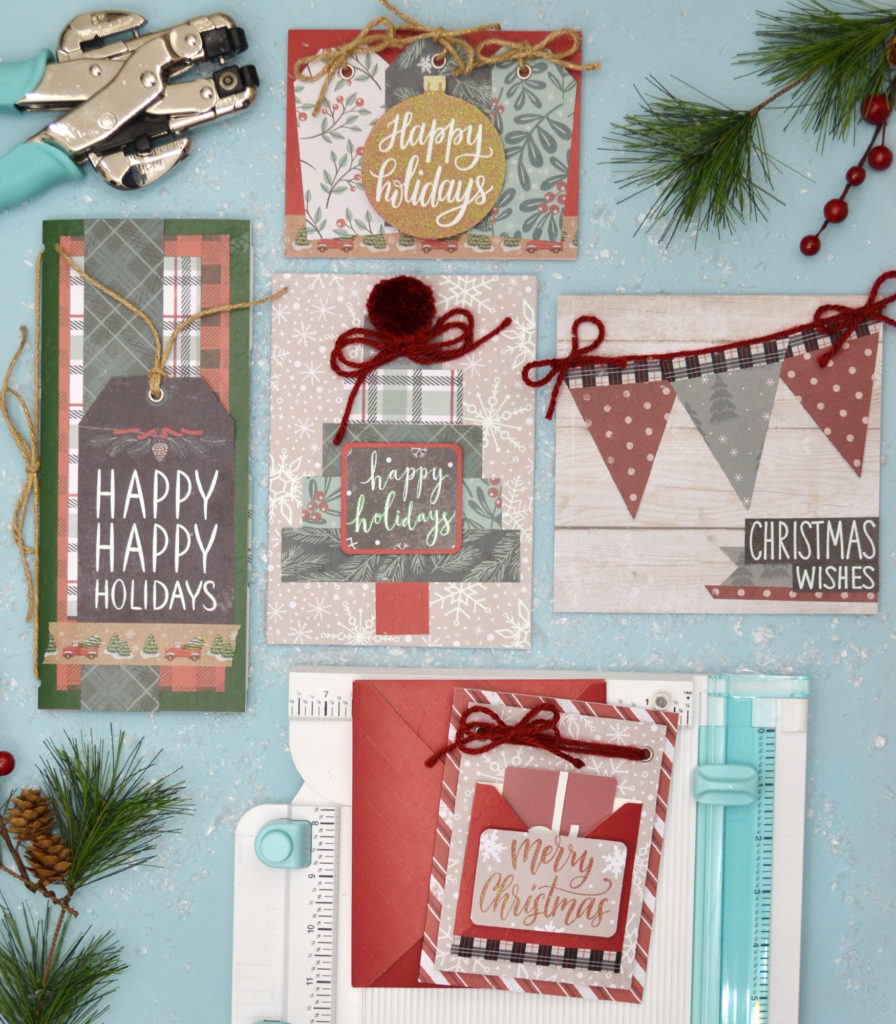 Fun Holiday Cards with The Works All In One Tool by Aly Dosdall
