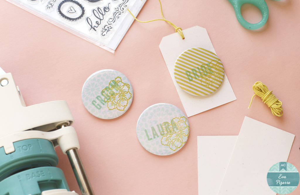 Personalized Wedding Buttons by @evapizarrov using the Button Press by @wermemorykeepers
